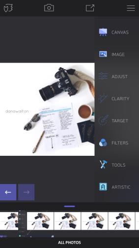select 'adjust' pannel
